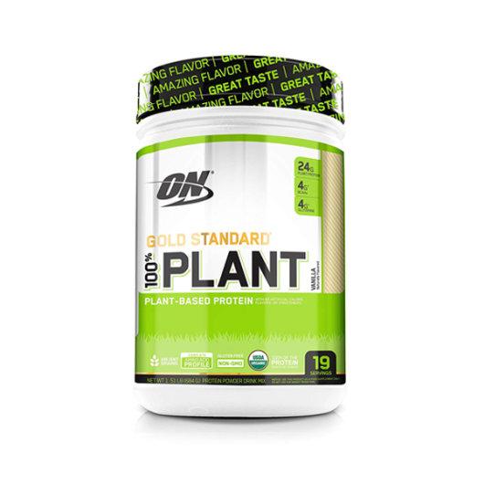 Biljni proteini OPtimum Nutrition u Zeleno bijeloj posudici od 684 grama