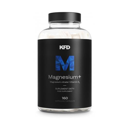 Magnezij u tabletama KFD Nutrition u crnoj kutijici od 160 tableta