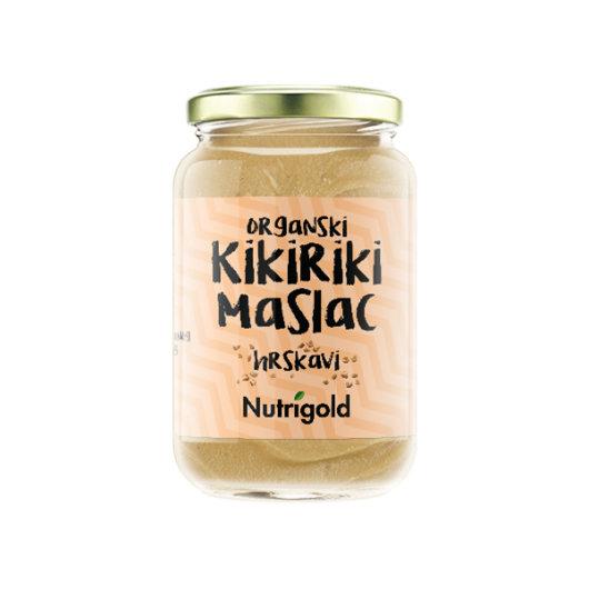 Organski maslac od kikirikija Nutrigold u staklenoj ambalaži od 350 grama