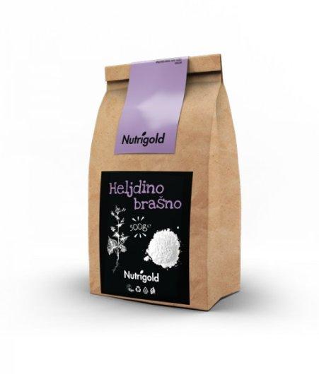 Heljdino Brašno Nutrigold u smeđoj ambalaži od 500 grama