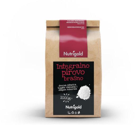 Integralno pirovo brašno Nutrigold u smeđoj vrečici od 1000 grama