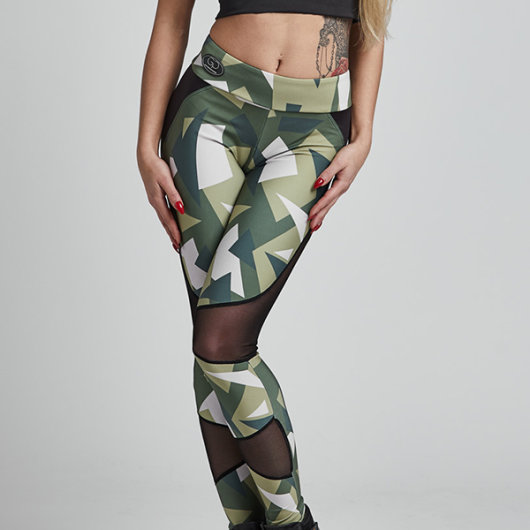 "Ženske tajice ""Brave military"" veličina M/L - Gym Provocateur"
