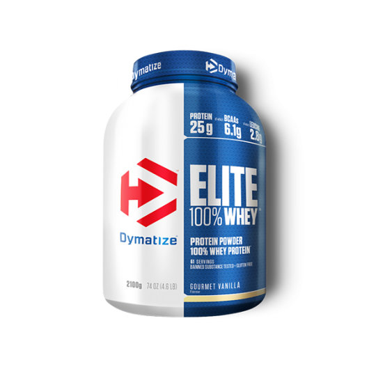 Elite 100% Whey proteini 2100g gourmet vanilla – Dymatize