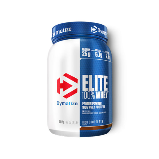Elite 100% Whey proteini 908g rich chocolate – Dymatize