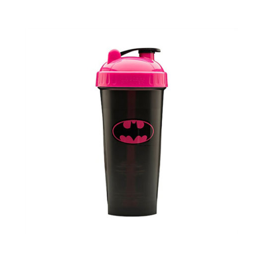 Shaker s logotipom crni s rozim poklopcem 800ml