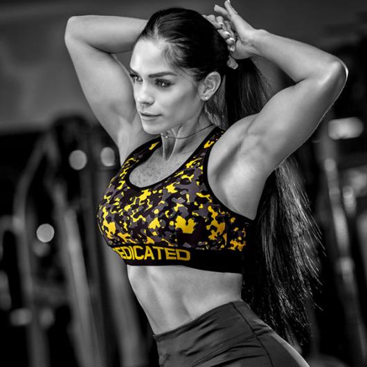 Ženski MASKIRNI sportski grudnjak vel. S - Dedicated Nutrition
