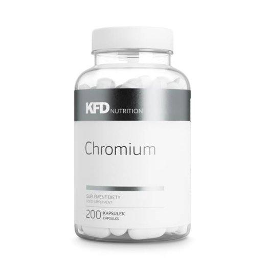 Krom u tabletama KFD Nutrition u prozirnoj ambalaži od 200 tableta