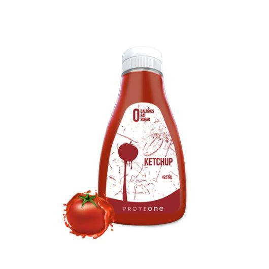 Ketchup umak bez kalorija ProteONe u prozirnoj bočici od 425 ml