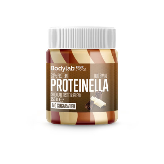 Proteinella duo swirl proteinski namaz u staklenom pakiranju od 250g.