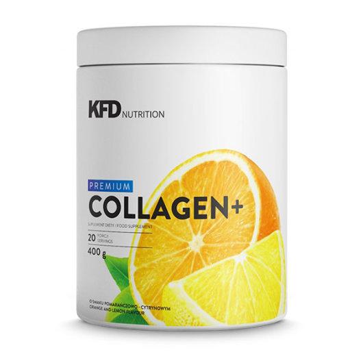 Kolagen u prahu KFD Nutrition okusa naranče i limuna u bijeloj posudici od 400 grama