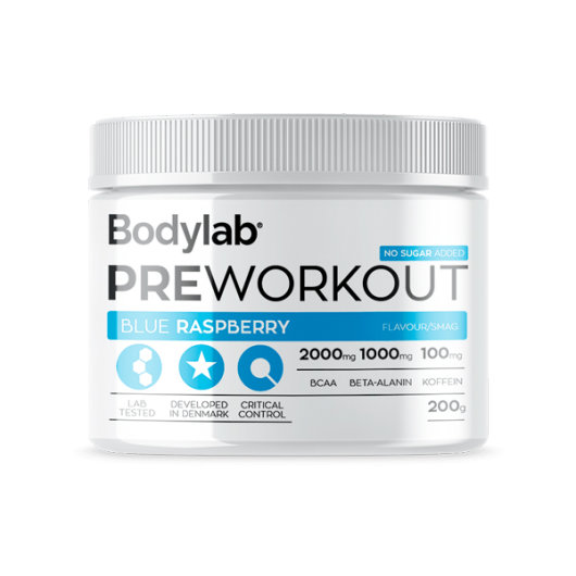 PRE-workout u prahu Bodylab okusa Blue Raspberry od 200 grama