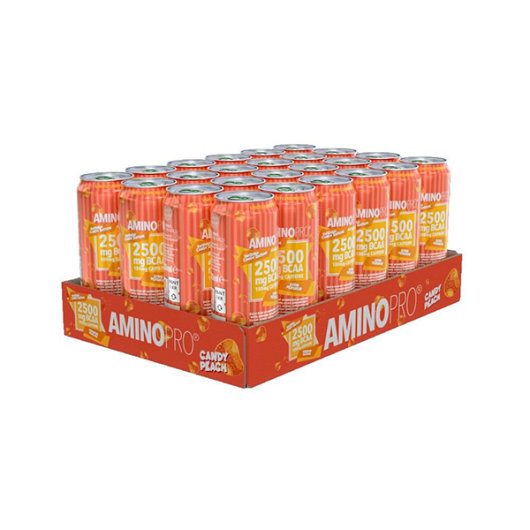 Napitak AMinoPRO obogaćen BCAA aminokiselinama u pakiranju od 24 komada