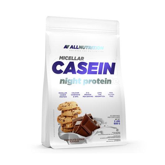 MIcelarni kazein u prahu All Nutrition u bijeloj ambalaži od 900 grama