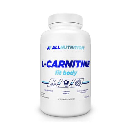 L-karnitin u kapsulama All Nutrition u bijeloj kutijici od 120 kapsula