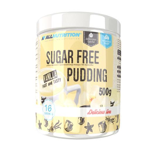 Smjesa za puding u prahu All Nutrition u posudici okusa vanilije od 500 grama