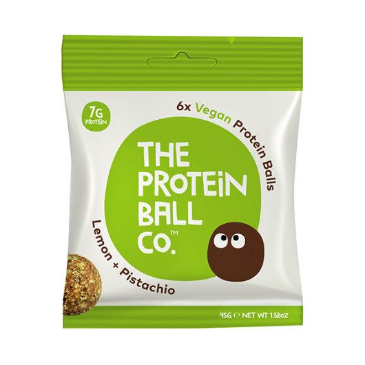 Veganske proteinske kuglice u zeleno-bijelom pakiranju od 45 grama.