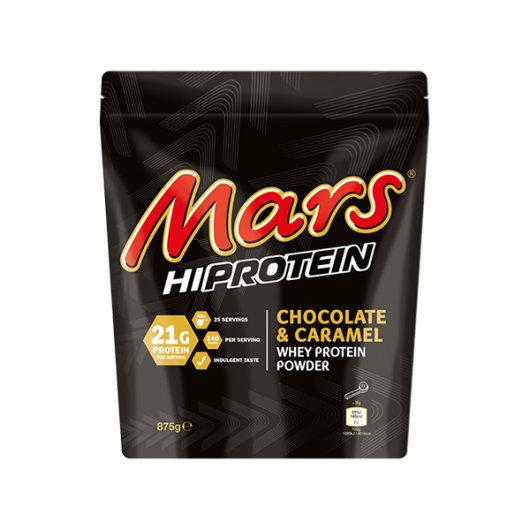 Mars proteini pakirani u crnoj vrećici od 875g.