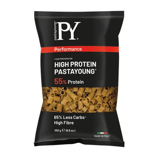Visokoproteinska tjestenina Pasta Young u crnoj ambalaži od 250 grama