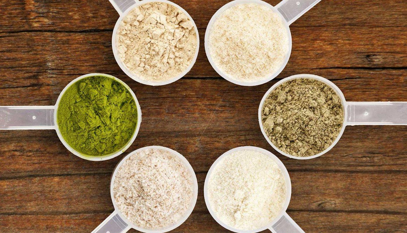 6 mjerica biljnih proteina poslaganih u krug.