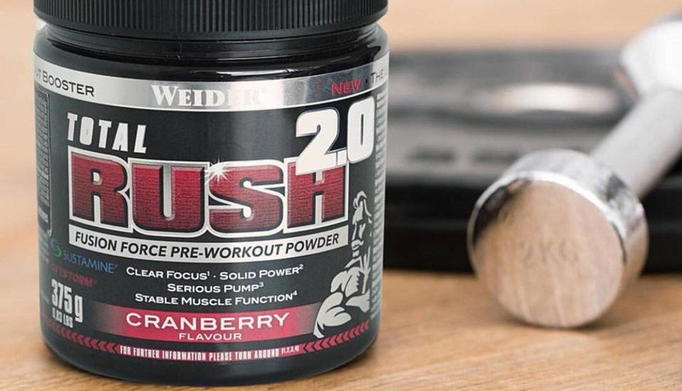 Intenzivniji trening i snaga u novom Weiderovom RUSH pre-workoutu!